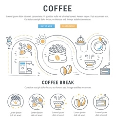 Website banner and landing page coffee vector