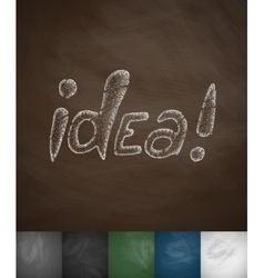 Idea icon vector