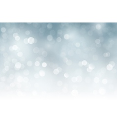 Silver bokeh holiday Christmas blurry vector image