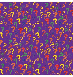 Pattern with question marks vector