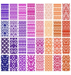 Set of 24 patterns vector image