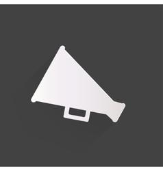 Megaphone oudspeaker icon loud-hailer symbol vector