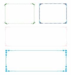 Colorful frame border set vector
