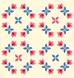 Scandinavian flowers - semaless tulips pattern vector image