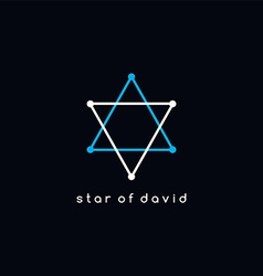 David star logotype outline trace logo theme vector