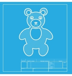 Teddy bear sign  white section of vector
