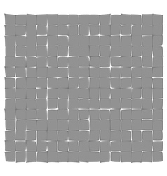 abstract gray deformed squares vector image vector image