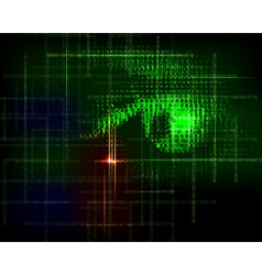 Abstract technology trendy background with binary vector image vector image
