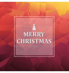 Abstract Triangle Background With Xmas Banner vector image