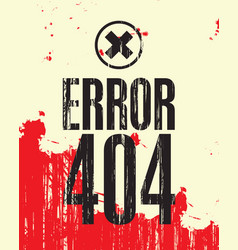 Banner with the inscription error 404 vector