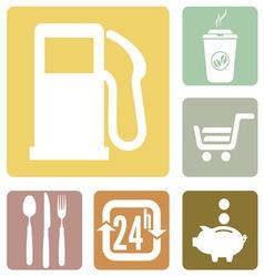 benzin ikone1 vector image vector image
