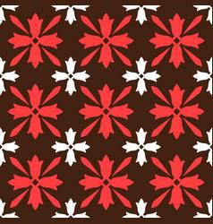 brown spanish ornamental ceramic tile vector image vector image
