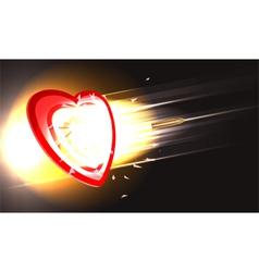 bullet through heart vector image vector image