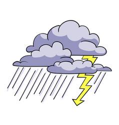 Cartoon image of storm icon rainstorm symbol vector