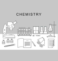chemistry thin banner vector image vector image