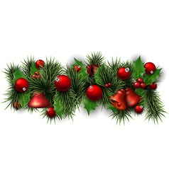 Christmas background with spruce branches vector image