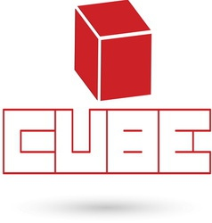 Cube resize vector image vector image