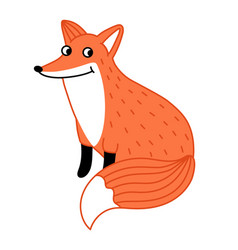 Cute little fox hand drawn cartoon character vector