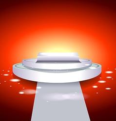Glowing white podium vector image