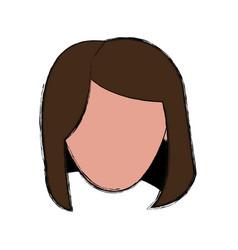 Head woman vector