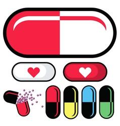 health pills vector image vector image
