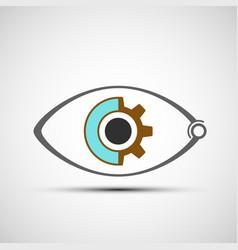 icon mechanical eye vector image vector image