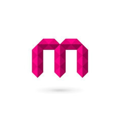 Letter m mosaic logo icon design template elements vector