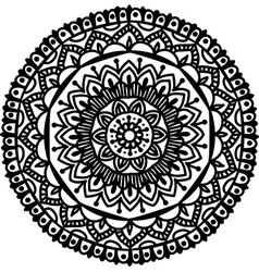 Mandala line art vector