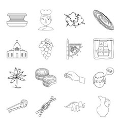 religion beauty travel and other web icon in vector image vector image