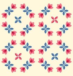 Scandinavian flowers - semaless tulips pattern vector image vector image