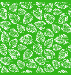 Seamless handcrafted pattern with leaves vector