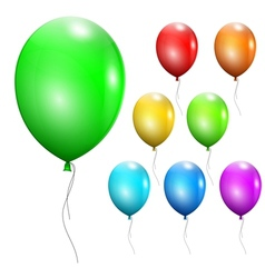 Set of multicolored balloons vector image