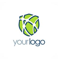 shield tehnology logo vector image vector image