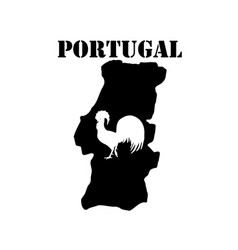 Symbol of portugal and maps vector