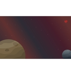 the planet space landscape vector image vector image