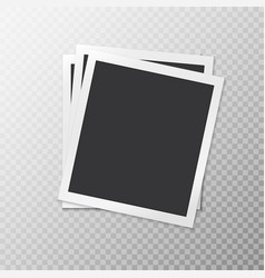 Three simple photo frames vector