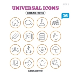 Universal icon Speech bubble and first aid box vector image vector image
