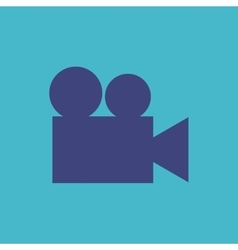 Video camera flat isolated icon vector