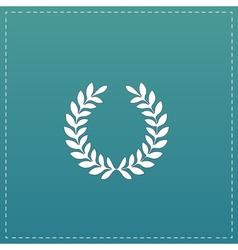 Wreath flat icon vector