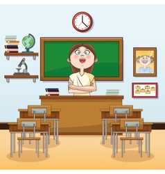 Teacher classroom back to school design vector