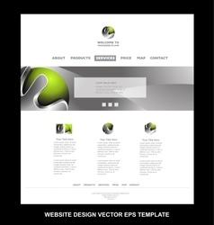 Green metal sphere website design template vector
