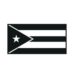 Cuba flag monochrome on white background vector