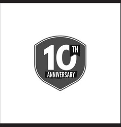 10th anniversary badge sign and emblem in vector