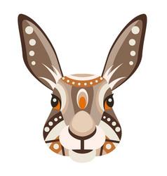 hare head logo rabbit decorative emblem vector image
