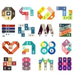 Set of origami modern design templates vector