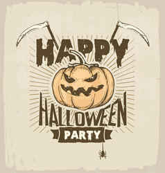halloween party colored vector image