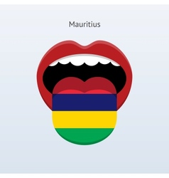 Mauritius language abstract human tongue vector