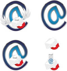 Mail sign 5 vector