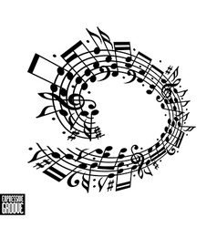 Expressive groove concept black and white design vector