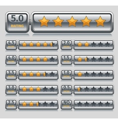 Rating stars set vector